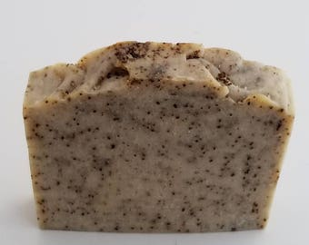 Cocoa Butter Coffee Scrub, Peppermint Oil, Cleansing, Therapeutic, Moisturizing, Handmade, Natural, Exfoliate, Cellulite