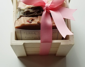 Soap Box Gift Set, 3 Natural handcrafted Vegan Soaps, Handmade, Occasion, Pick your Soaps,