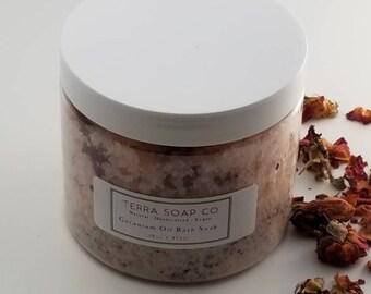 Geranium Oil Himalayan & Dead Sea Bath Salt, Spa, Relaxation, Bath, Therapeutic, Minerals, Stress, Sore Muscles, Remove Toxins, Circulation