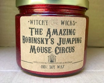 d7c796aed9b6f7 The Amazing Bobinsky's Jumping Mouse Circus 100% Soy Wax Candle