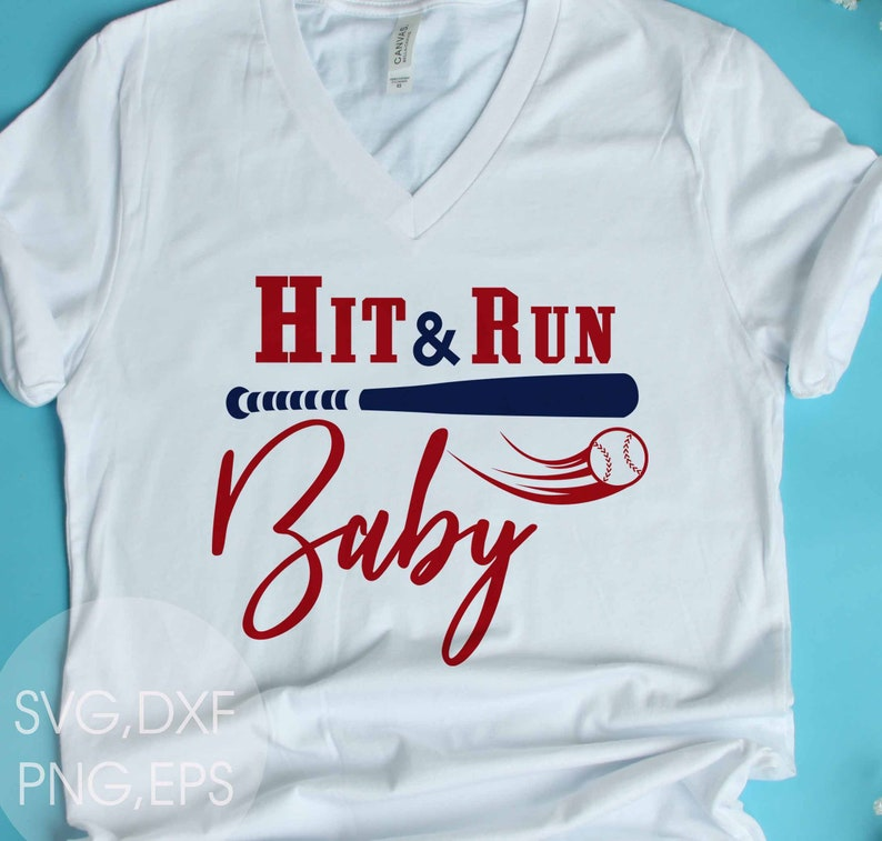 Hit /& Run Baby-SVGDXF,EPS,Png files