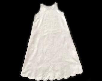 Vintage 1950/'s Hand Crocheted Top Baby Sun Dress  Infant  Doll Petticoat Slip