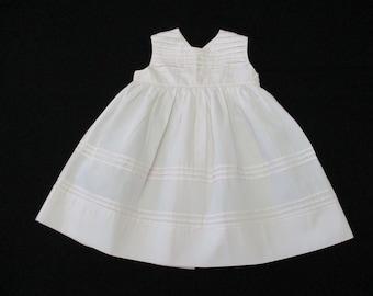 653fd15f1d82 Vintage 12 - 18 Months Feltman Brothers Pink Cotton Sleeveless Infant Baby  Dress 689365153