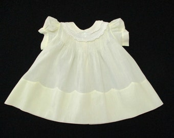 72bdbfdbc Vintage Size 9 Months Tiny Tots Yellow Embroidered Smocked Cotton Baby Dress  Philippines 694415972