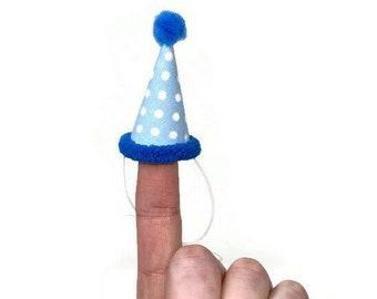Blue Polka Dot Party Hat, Hedgehog Party Hat, Chicken Party Hat, Ferret Party Hat, Polka Dot Birthday Hat, Hat for Guinea Pigs