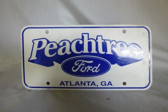 Ford Dealers In Ga >> Ford Dealer License Plate Peachtree Atlanta Ga