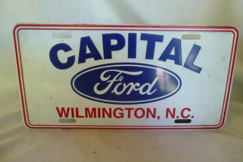 Capital Ford Wilmington >> Ford Dealer Plate Capital Ford Wilmington Nc
