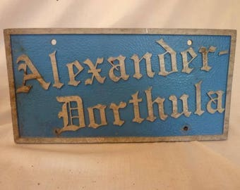 """Personalized License Plate """" ALEXANDER DORTHULA"""""""