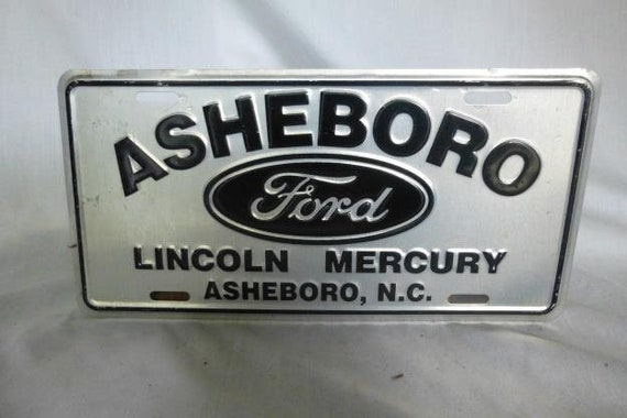Ford Dealerships In Nc >> Ford Dealer Plate Asheboro Nc