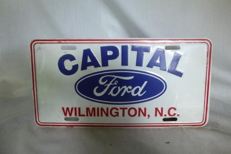 Capital Ford Wilmington >> Draler License Plate Capital Ford Wilminton N C