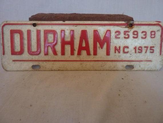 Durham Nc City Tax License Plate 1975 Etsy