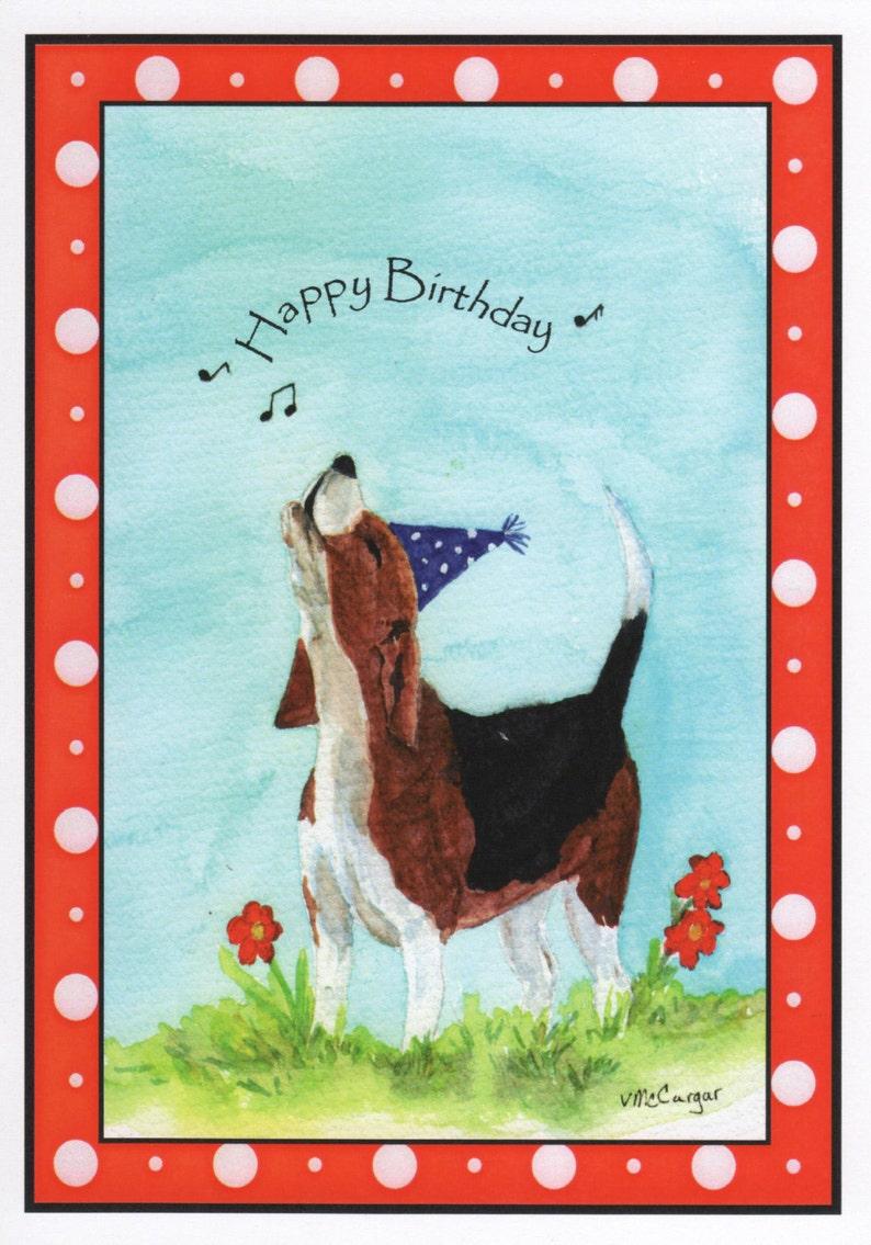 Birthday Beagle Dog Card Inside Of Card Your Birthday Is