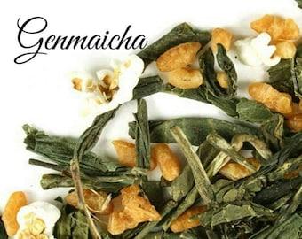 Genmaicha Tea... Loose Leaf Tea, Green Tea, Popcorn, Toasted Rice, Kosher, Gift, Birthday