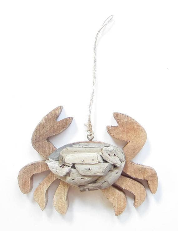 image 0 - Crab Driftwood Ornament-Crab Christmas Ornament-Crab Etsy