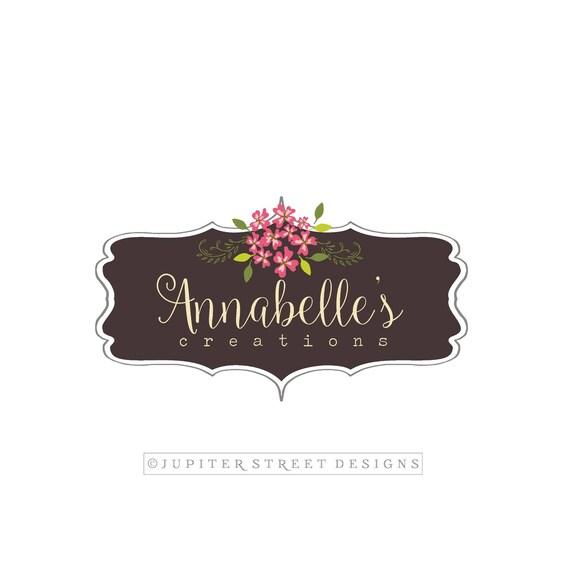 Logo Design Hortensia Fleur Photographie Etsy Blog Mariage Made To Match Carte De Visite Disponible