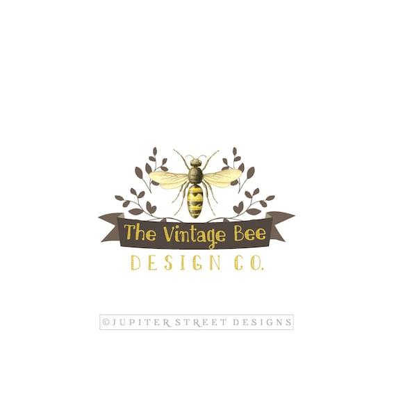 Bee Logo Vintage Logo Photography Logo Etsy Logo Branding Etsy
