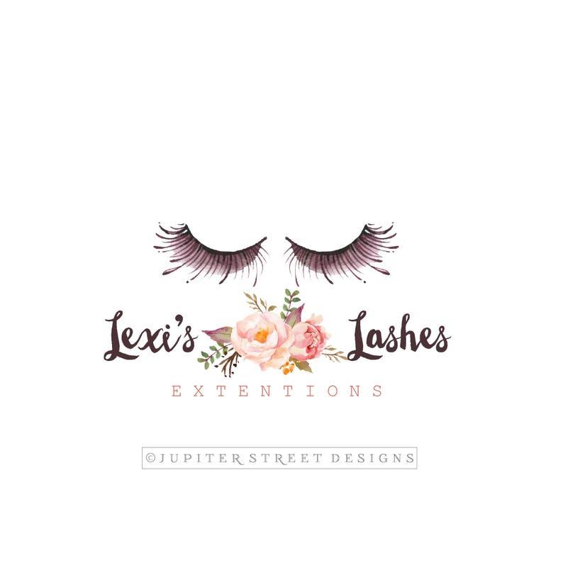 Eye Lash Logo Make Up Logo Beauty Logo Cosmetic Logo Etsy Etsy