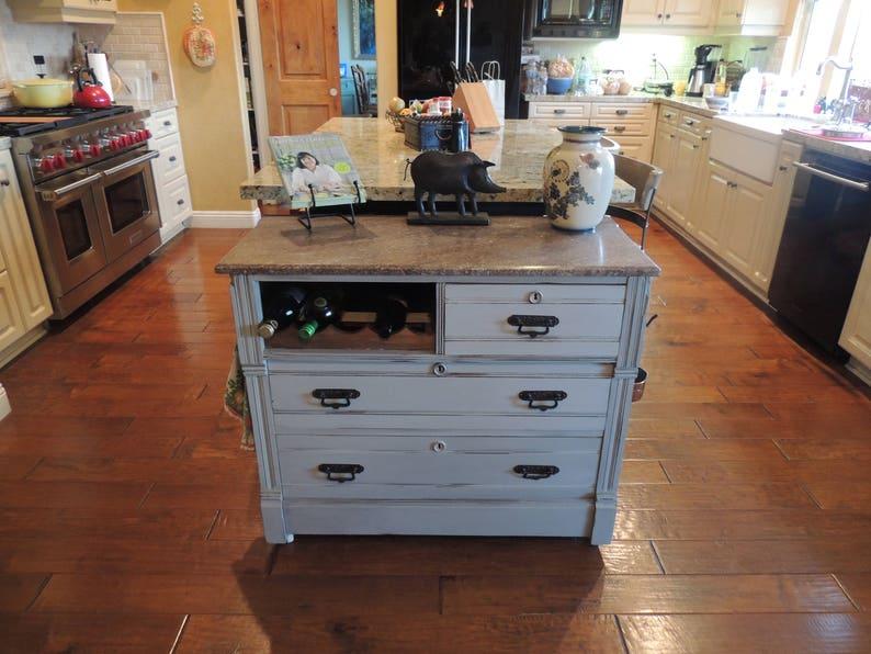 1890 S Repurposed Vintage Kitchen Island Etsy