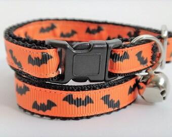 Halloween Cat Collar Dancing Ghost Halloween Kitten Collar Spooky Cat Collar Spooky Cat Collar