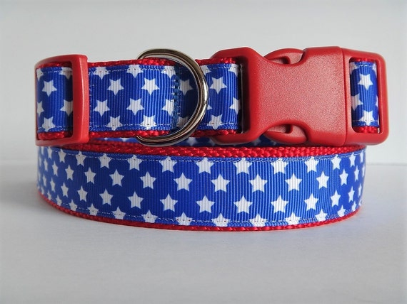 "1/"" Wide Small Star Spangled DoG Collar"