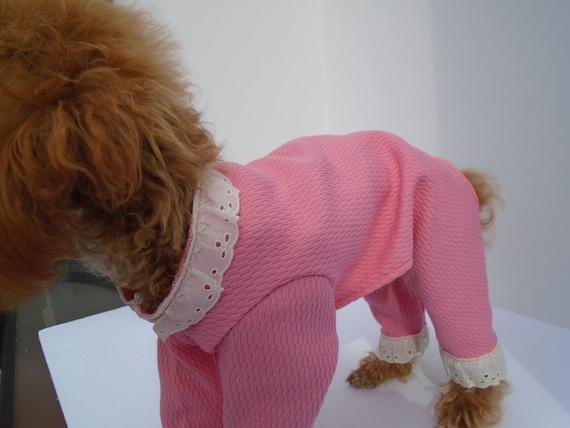 a00442bc9f5b Dog Pajamas Pink Thermal Dog Pajama Small Dog Clothes Dog