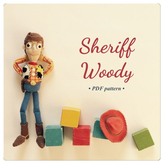 PDF Sheriff Woody amigurumi crochet pattern | Etsy