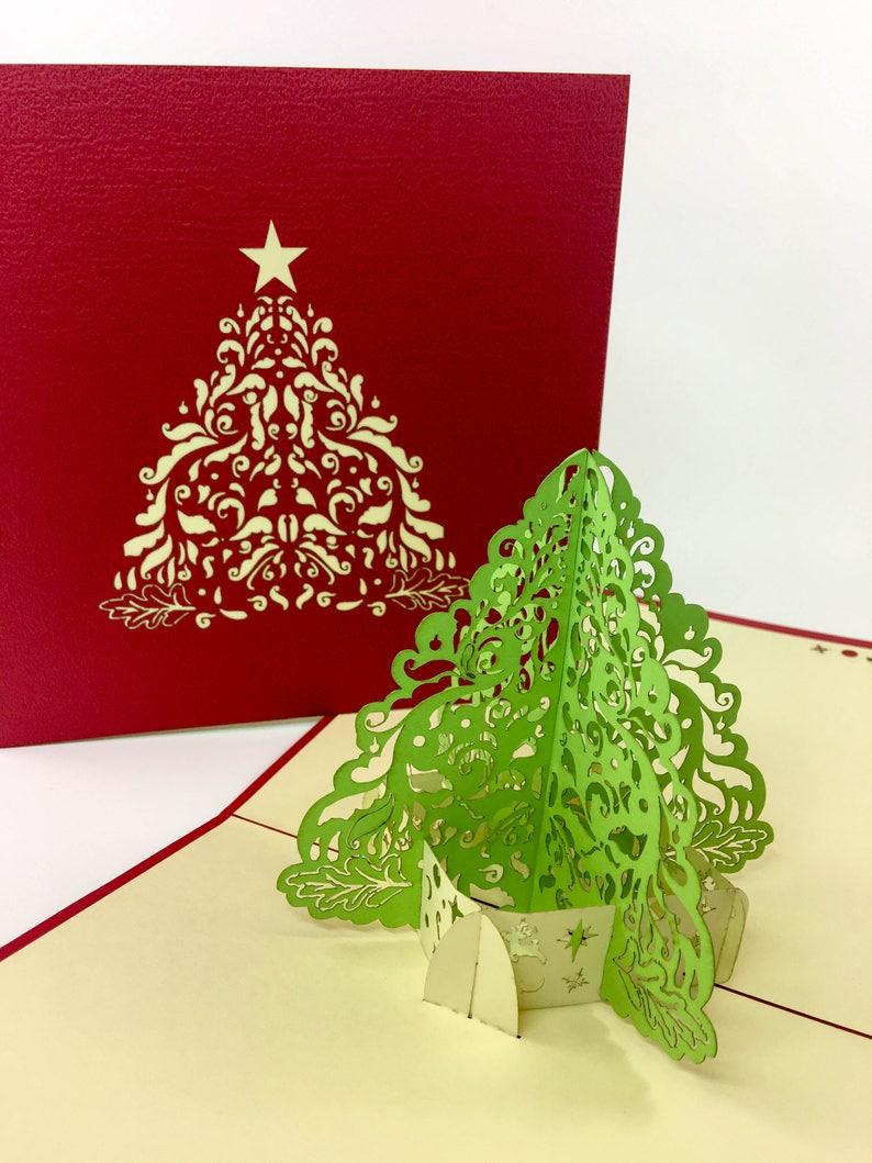 Christmas Card Holiday Greeting Card 3d Pop Up Christmas Tree Beautiful Christmas Pop Up Tree Merry Christmas