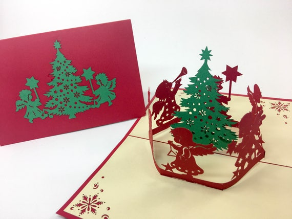 Musical tree music christmas card greeting card 3d pop etsy image 0 m4hsunfo
