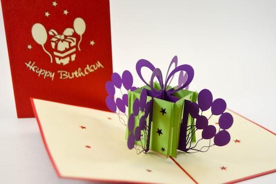 3d Cards Birthday Card Happy Birthday Card Pop Up Card Etsy