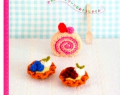 60 Crochet Cute Scrubber Patterns Japanese Crochet PDF Book Japanese Patterns Cakes Cookies Scrubber Patterns Instant download - Code 216