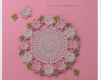 Flower doily japanese crochet book pdf crochet doily etsy 20 crochet motif patterns japanese crochet book pdf crochet doily table center crochet bag accessories instant download pdf 124 ccuart Image collections