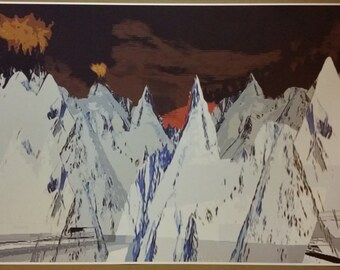 "Radiohead Kid A Mountains Art Poster Print  GIANT WIDE 42x24"""