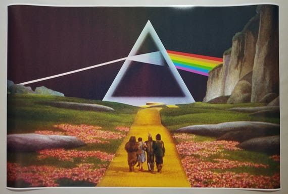 """Pink Floyd GIANT WIDE 24/"""" x 42/"""" Meddle Poster Roger Waters Concert Trip Band"""