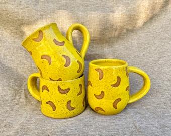 Yellow Speckled Banana Mugs