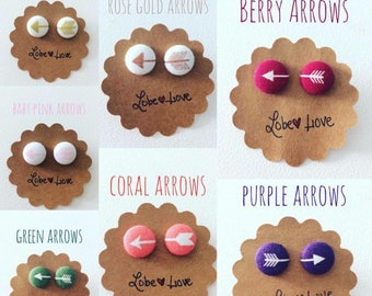 Choice of Arrow Fabric earrings