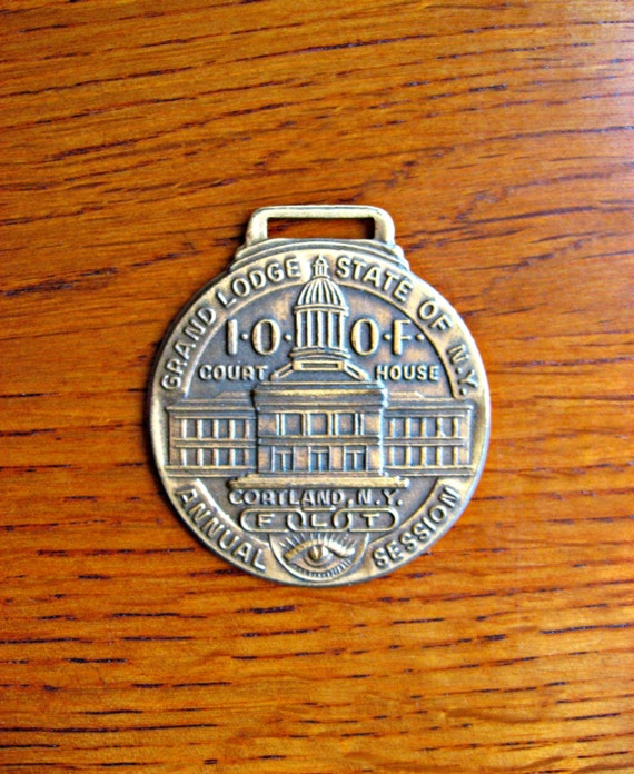 Odd Fellows Watch Fob Antique Masonic Jewelry Odd Fellow Etsy
