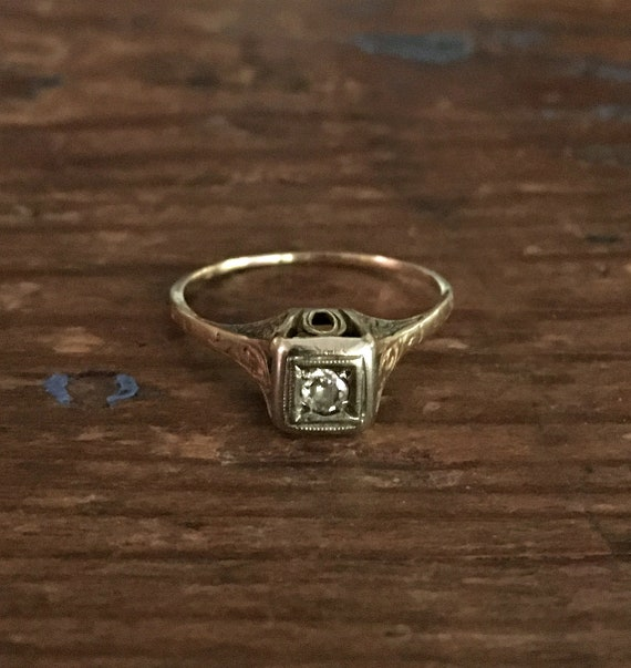 Victorian Diamond Engagement Ring ~ Victorian 14k