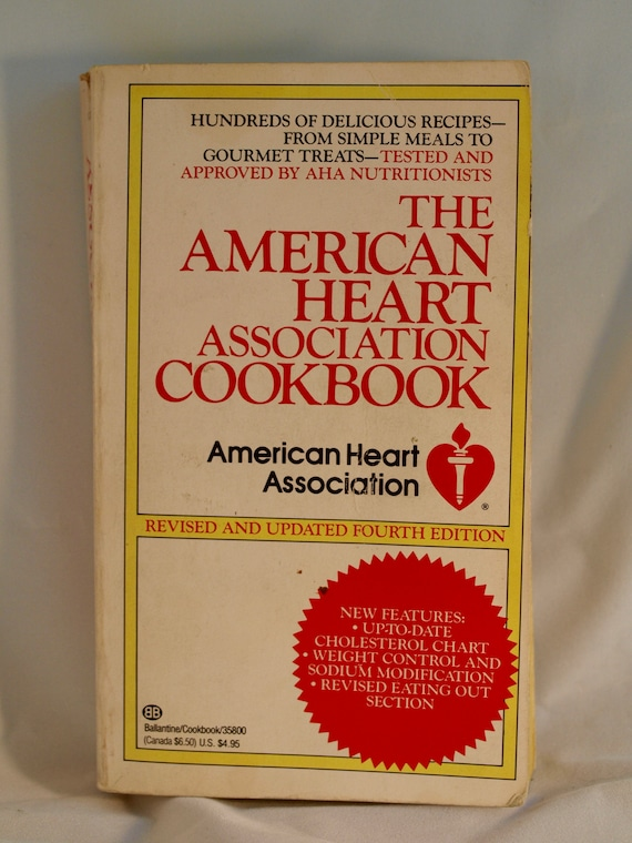 Vintage The American Heart Association Cookbook Etsy