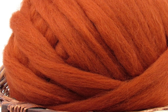 Dyed Corriedale Natural Spinning Fiber Wool Top Roving  1oz Cornflower