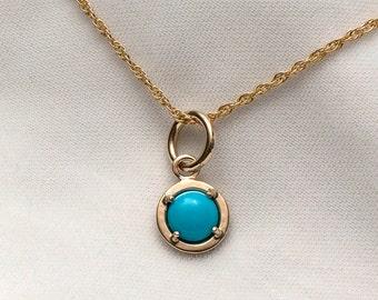 14kt Sleeping Beauty Turquoise Pendant