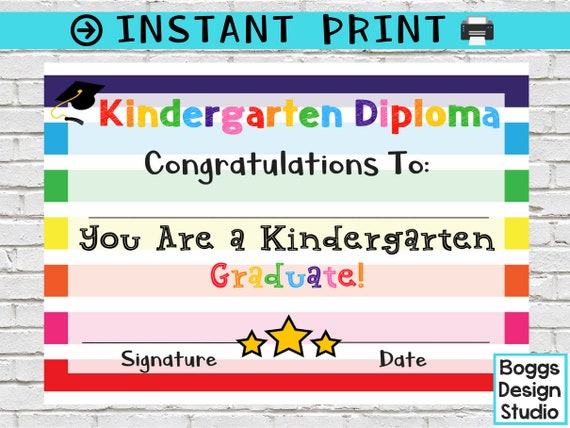 image about Kindergarten Diploma Printable named Kindergarten Degree, Kindergarten Certification, Printable Faculty Award, Commencement Degree, Blank Higher education Degree, Instantaneous Down load
