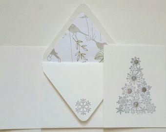 Sequined Snowflake Tree