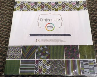 Project Life Rain Edition 12x12 Paper Pack