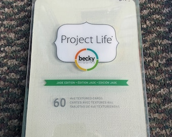 Project Life Textured Cardstock Jade Edition 4x6