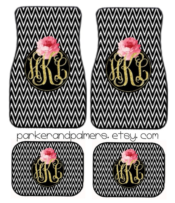 Kate Spade Inspired Monogrammed Car Mats Design Your Own Etsy