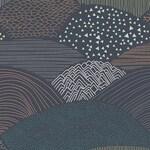 Cotton Fabric by the yard, Dark Hills, Summit Twilight, Woodland, Hello Bear, Art Gallery, Bonnie Christine, Yardage