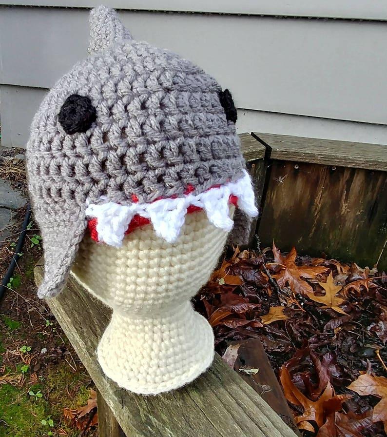6a51f4b4470 Crochet Shark Hat Baby Shark Hat Kids Shark Hat Crochet