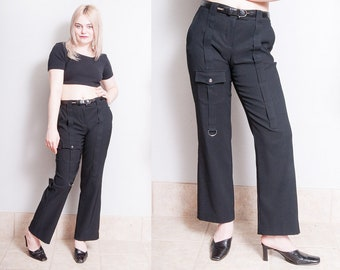 Vintage 1990's | GIANFRANCO FERRE | Black | Trouser | Pants | Made in Italy | M