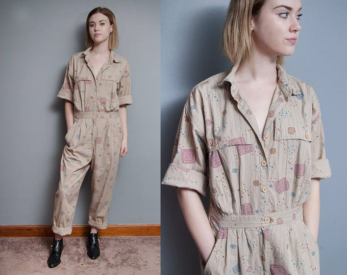 Featured listing image: Vintage 1980's I DIANE VON FURSTENGERG I New Wave I Cotton I Jumpsuit I M