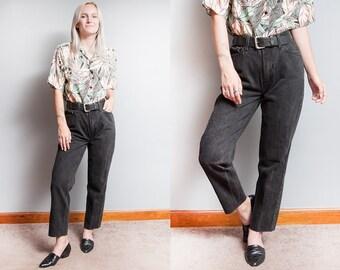 Vintage 1990's   Black   LEVI'S   512   Denim   Jeans   5 Pocket   High Rise   Slim Fit   Tapered  Leg   S/M